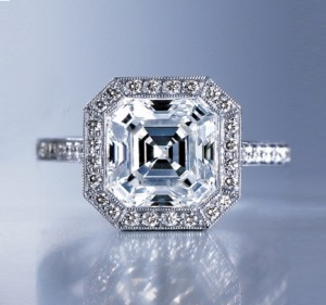 asscher cut diamond ring advice